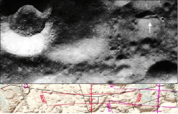 Кораб на извънземните на Луната